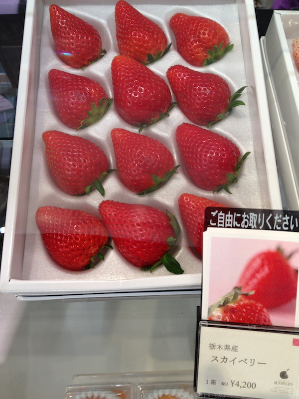 Japanese Strawberries cost around 4,200 yen or 1,800++ pesos per pack!