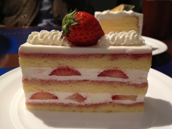 My favorite Strawberry Shortcake at Cafe Yoku Moku