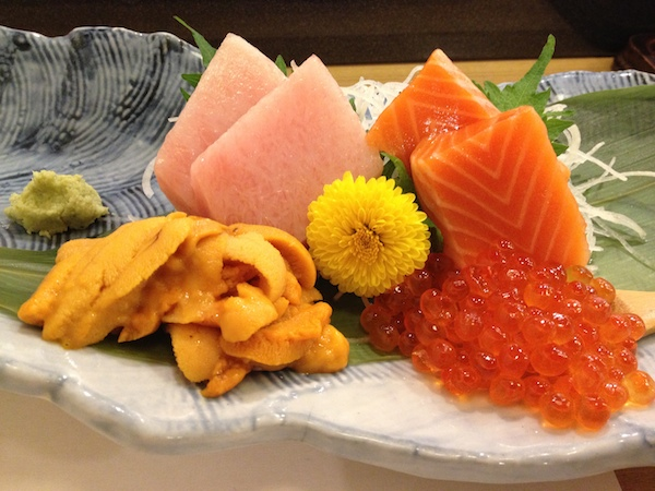 The sashimi version of the sushi platter above