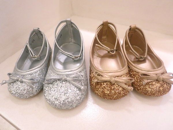 Rustanette Shoes in Sparkly Silver and Gold
