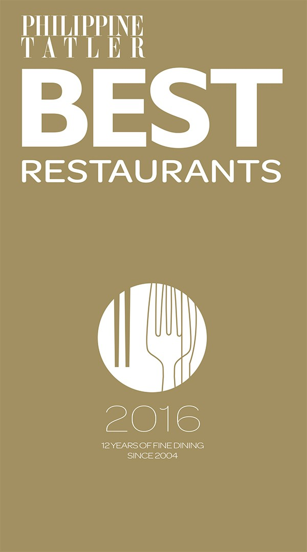 Philippine Tatler Best Restaurants BRG 2016