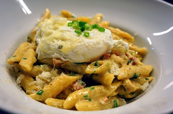 White Truffle Penne Carbonara with Soft Egg