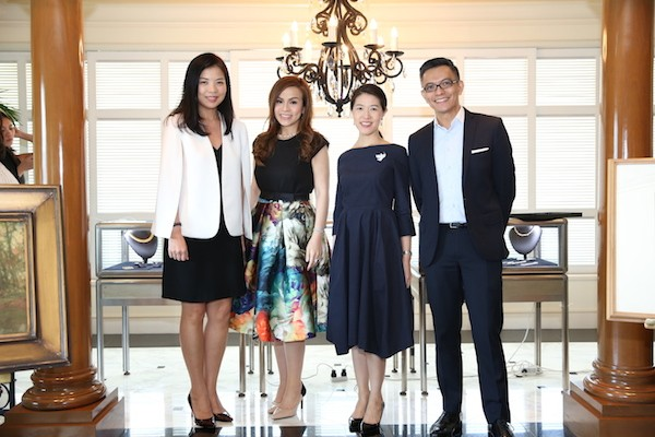 With Stephanie Chong of The Peninsula Manila and Karen and Richie Lerma of Salcedo Auctions