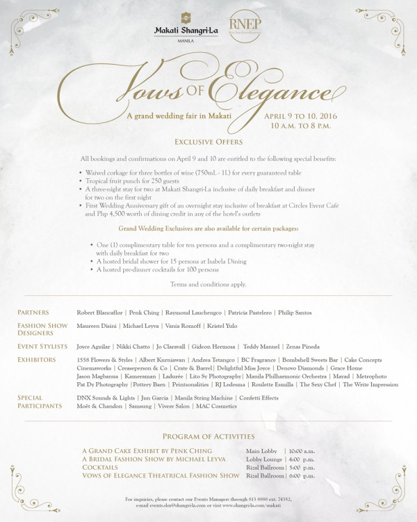 VOWS OF ELEGANCE NEW POSTER 2016