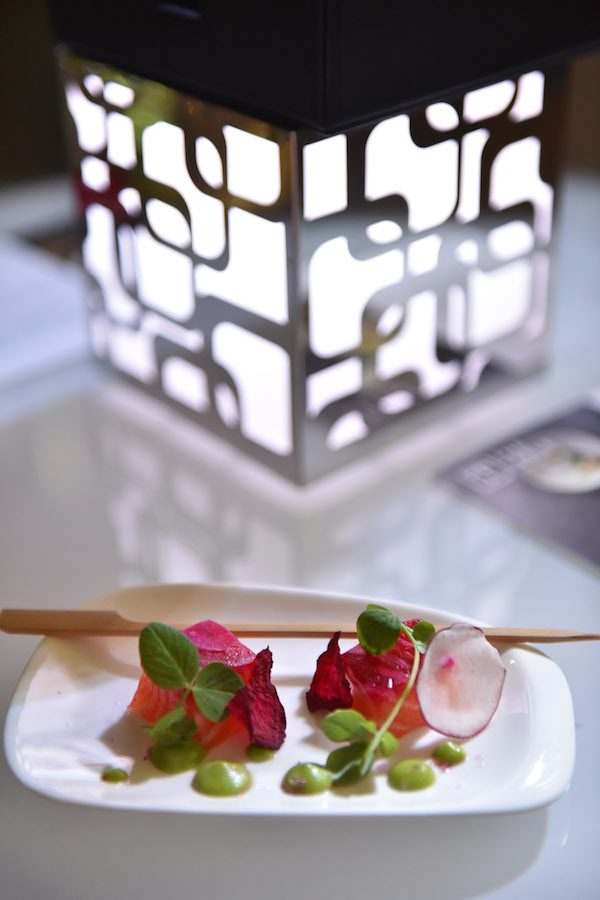 act-1-beetroot-cured-salmon-cubes-wasabi-sauce