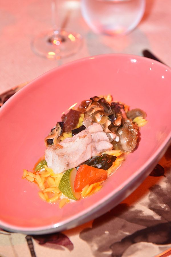 act-3-monk-fish-fillet-in-cara-fata-octopus-chorizo-saffron-orzo-pernod-infused-white-wine-sauce