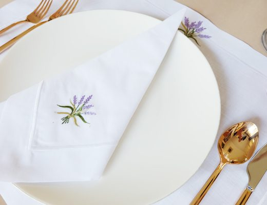 Table Napkins and Placemats Lavender