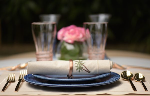Table Napkins and Placemats Palm Tree